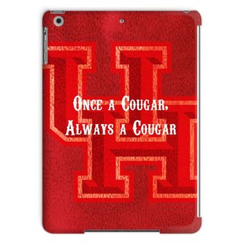 """Red Houston University """"Once a Cougar, Always a Cougar"""" Tablet Case"""