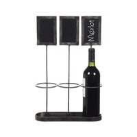 Three's Company Bottle Holder with Chalkboards