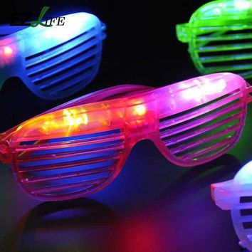 Ezlife Hot Sale Flashing Party Led Light Glasses For Christmas Birthday Halloween Party Decoration Supplies Glow Glasses Ct0206