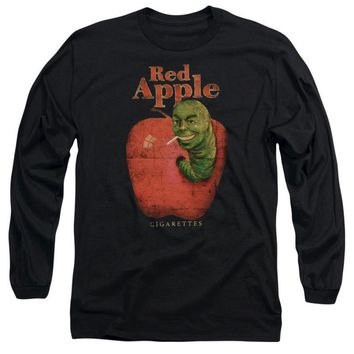 Adult Pulp Fiction Red Apple Cigarettes Long Sleeve Tee