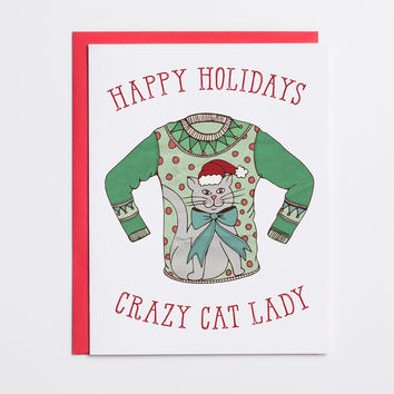 Happy Holidays Crazy Cat Lady