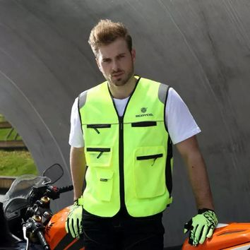 Trendy Motorcycle Roadway Reflective Jacket Safety Clothing Scoyco JK30-2 Chaleco Reflectante Protective Vest Ropa Moto High Visibility AT_94_13