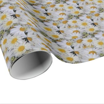Dew-Kissed Daisies Floral Wrapping Paper