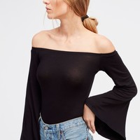 Free People Bell Sleeve Bodysuit