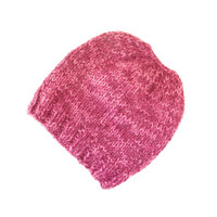 Knit Messy Bun Hat - Ponytail Beanie - Wool Runner's Hat - Gift for Teens - Knit Ponytail Hat