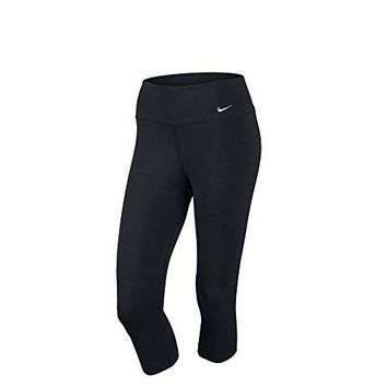 Nike Lady Dri-Fit Legend 2.0 Capri Running Tights - Medium - Black