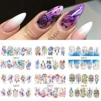 1 Sheet Dreamcatcher Water Stickers Feather Nail Art Sticker Water Transfer Nail Stickers Nail Tips Decals Wraps BEBN301-312