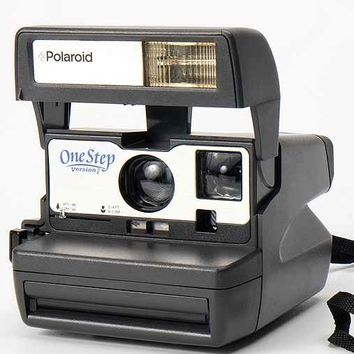 Impossible Vintage One Step Silver Polaroid Instant Camera Set- Silver One