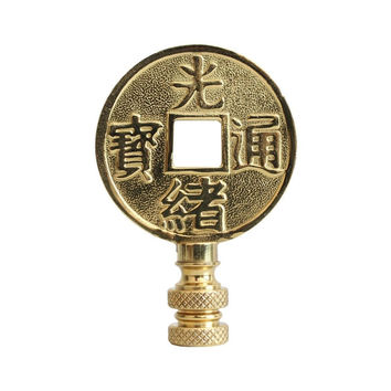 Beautiful Brass Coin Lamp Finial