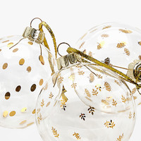 Glass bauble with gold details (set of 3) - Baubles - For the tree - Christmas | Zara Home United Kingdom