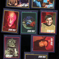 1991 Impel Star Trek 25th Anniversary Trading Cards Lot of 8 cards Vintage Collectible  Free Shipping