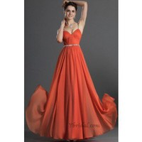 A-Line V-Halter Floor-Length Chiffon Prom Dress SAL1044