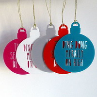 Christmas Song Baubles