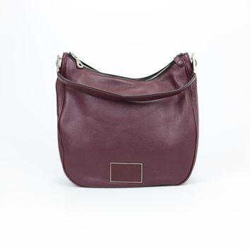 Marc By Marc Jacobs Wine Leather Hobo