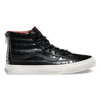 Croc Leather SK8-Hi Slim Zip | Shop Sk8-Hi™ Slim Zip at Vans