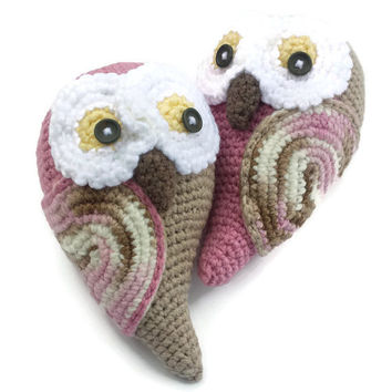 Free US Shipping, Amigurumi Owls, Knit Toys, Knit Owls, Crochet Toys, Children Amigurumi Toys, Decorative Owl Pillow, Owl Crochet Pillow