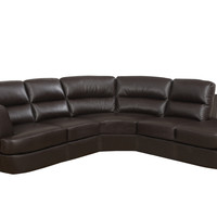Dark Brown Bonded Leather / Match Sectional
