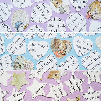 100 Beatrix Potter Confetti - 3 shape choices - Baby Shower, Birthday Party, Christening - Peter Rabbit Table Decor