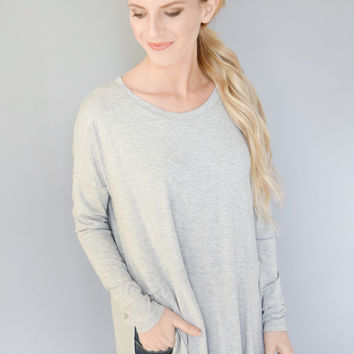 West End Ave. Tunic Heather Grey