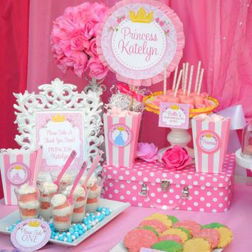 PRINCESS Party - FOOD Labels/Place Card - Party Printables - All Disney Princess - Girls Birthday Party - Bridal Shower - INSTANT Download