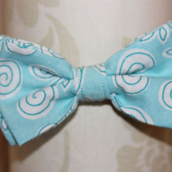 Blue Swirls Adjustable Bowtie (Baby / Infant / Toddler Boy)