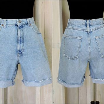 "Retro Mom Jeans Shorts /  Vintage 80s / Gap USA / high waisted denim shorts / size 8 / 9  / 30"" waist"