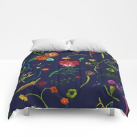 Floral love I pattern Comforters by Sagacious Design