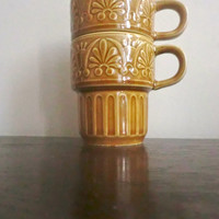 1970s Stacking Japan Mugs
