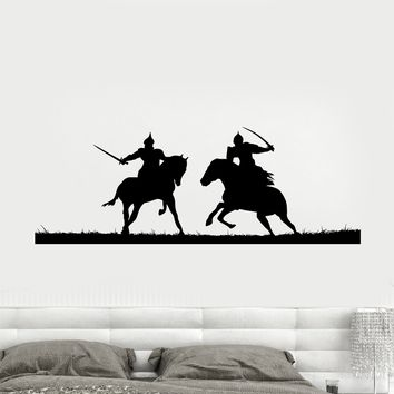 Decal Wall Vinyl Sticker Knights Duel Vikings Warriors Middle Ages Unique Gift (ed537)