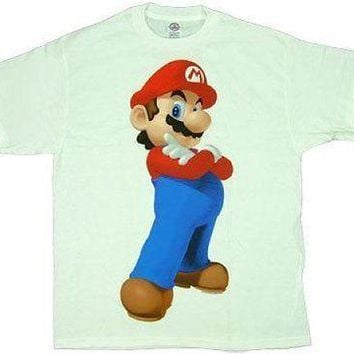 New Licensed Nintendo Super Mario Game White Adult T-Shirt S M L XL XXL