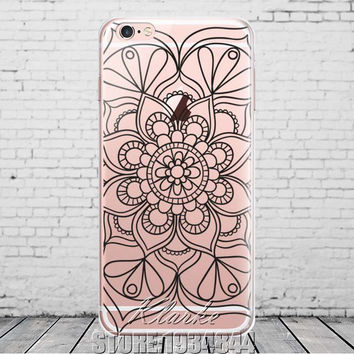 Paisley Flower Mandala Clear Case For iphone 6 6s 6plus Silicone Soft Cover