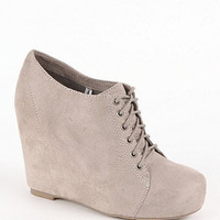 Black Poppy Lace Up Wedges at PacSun.com