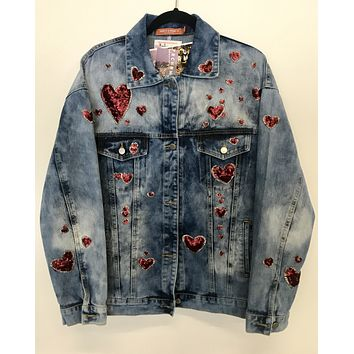 NEW Sacred Hearts Denim Jacket