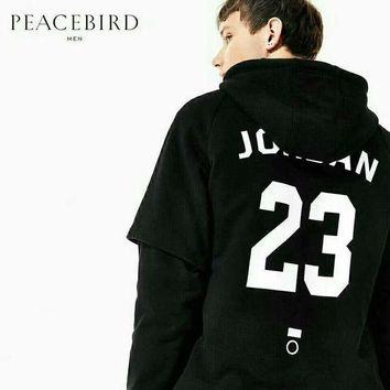 PEAPUF3 JORDAN 23 Fashion Black Men Hoodie Shirt B-JJ-LHYCWM