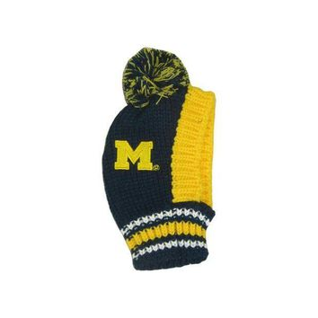 ESBYW9 Michigan Wolverines Pet Knit Hat