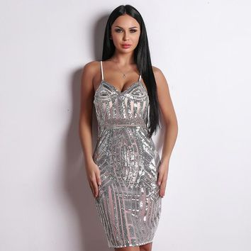 Runway Dress - Silver