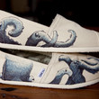 Octopus Themed Custom TOMS Shoes by BPillustration on Etsy
