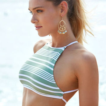 Rhythm Strokes High Neck Bikini Top at PacSun.com