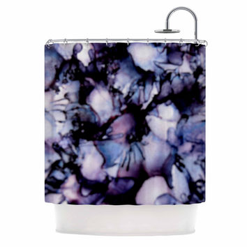 "Claire Day ""Violet"" Blue Purple Shower Curtain"