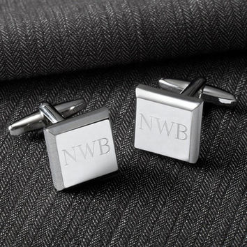 Personalized Cufflinks, Groomsmen Gift, Wedding Gift, Custom Cufflinks, Engraved Cufflinks, Gift for Him, Father's Day Gift, GC1300