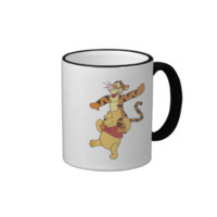 Winnie The Pooh with Tigger on shoulders Ringer Coffee Mug