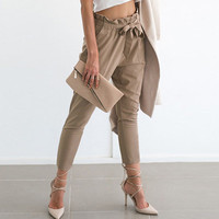 Slim Skinny Pants Summer Hot Sale Women's Fashion Ladies Pants Waistband