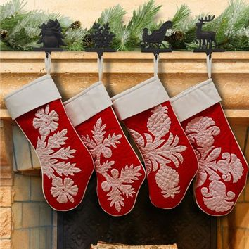 08fb65d97c0 Hand Quilted Hawaiian Christmas Stockings