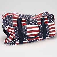 American Flag Canvas Weekend Bag