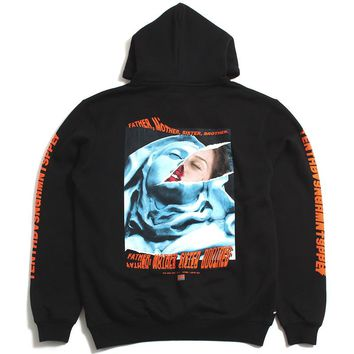 La Madonna Hoodie Black / Orange