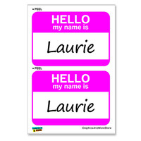 Laurie Hello My Name Is - Sheet of 2 Stickers
