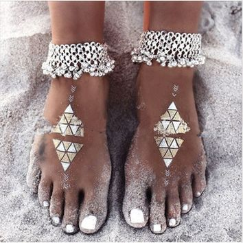 Retro Bohemian Ethnic Tassel Beach Foot Chain Accessory