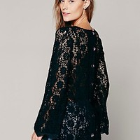 Free People Womens Infinite Arms Lace Tunic