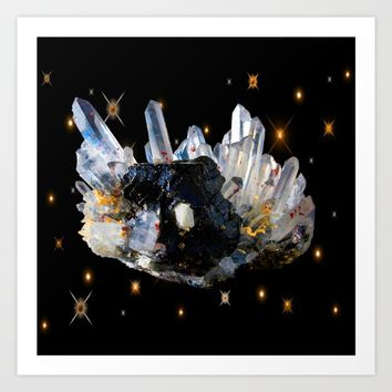 Star Aura Quartz Art Print by Azima