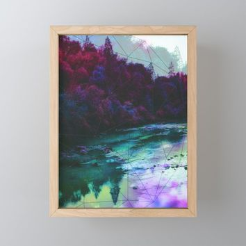 Terrarium Framed Mini Art Print by duckyb